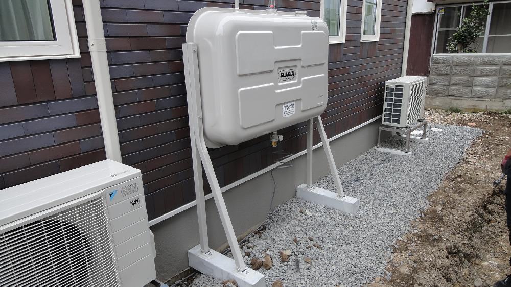 【施工事例】灯油タンク設置工事